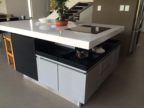 Mueble moderno de cocina detalle isla - Mueble de cocina moderno ...